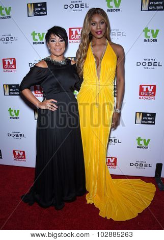LOS ANGELES - SEP 18:  Selenis Leyva & Laverne Cox Television Industry Advocacy Awards  on September 18, 2015 in Hollywood, CA