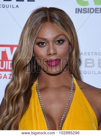 LOS ANGELES - SEP 18:  Laverne Cox Television Industry Advocacy Awards  on September 18, 2015 in Hollywood, CA