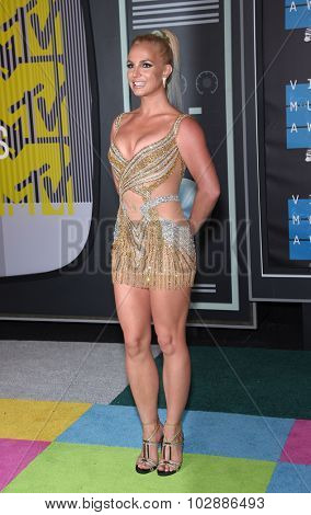 LOS ANGELES - AUG 30:  Britney Spears 2015 MTV Video Music Awards - Arrivals  on August 30, 2015 in Hollywood, CA