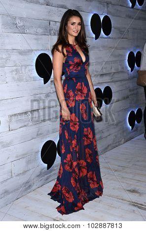 LOS ANGELES - SEP 24:  Nina Dobrev arrives to the Go90 Sneak Peek  on September 24, 2015 in Hollywood, CA.