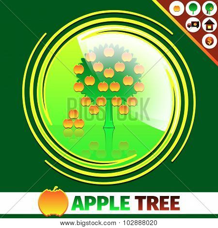 Apple orchard logo design