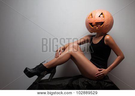 Fashionable Halloweens Model Sitting