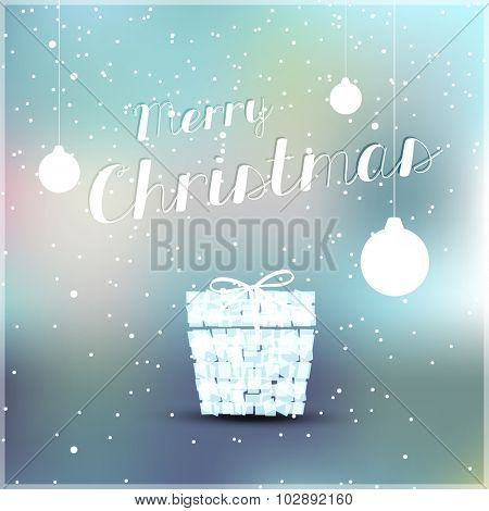 Christmas cover with balls easy editable