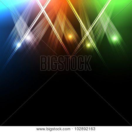 neon spotlights easy all editable