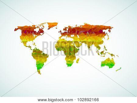 World map polygon easy all editable