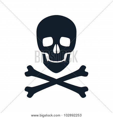 Skull icon vector illustration.