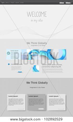 web design vector template, easy editable