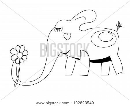 coloing with elephant