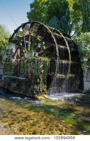 Water Wheels In Provence, France