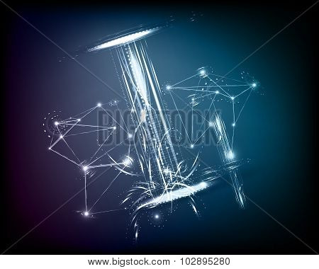Background Conceptual Technology Space Galexy Vector