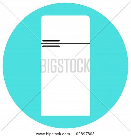 Isolated fridge icon. Modern refrigerator icon. Refrigerator isolated icon.
