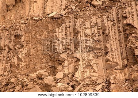 Background or texture of great clay wall