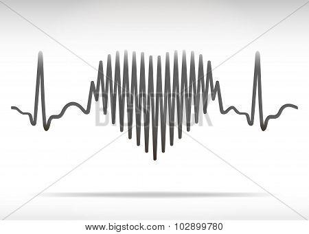 Heart Beating Line.