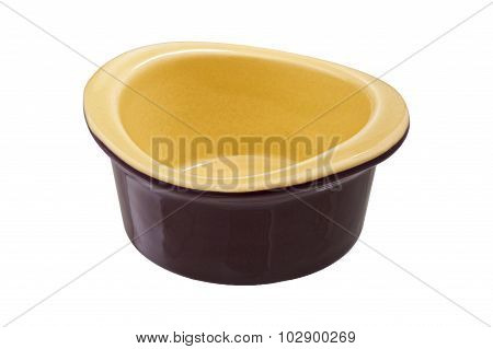 Olive Ramekin Isolated