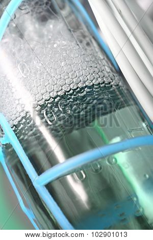 Foamy Medicine In A Glass Vial