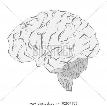 Creative Idea Of The Human Brain In A Metal Sheath