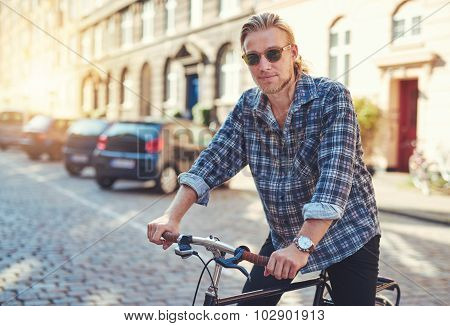 Young Man On His Bike