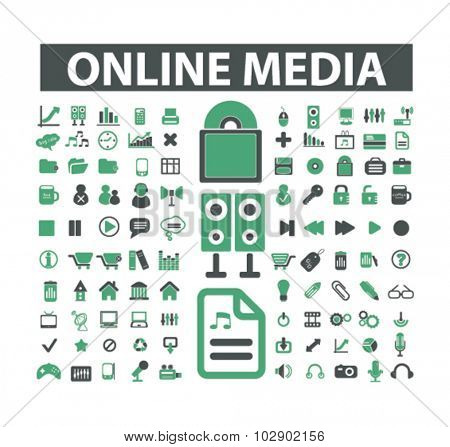 online media, music icons