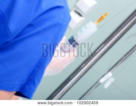 Nurse Working In A Hospital