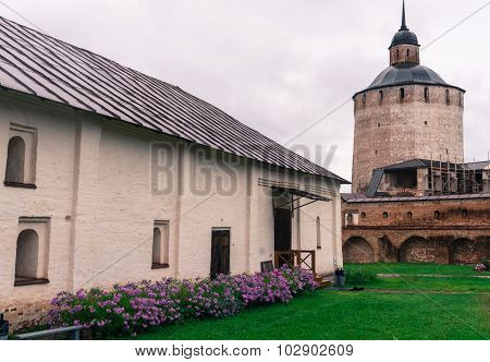 tower and buildings of monastery