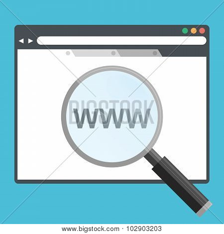 Vector illustration Internet search icon