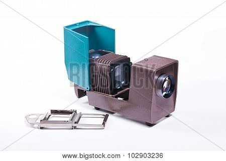 Retro Cine-projector On The White Background.