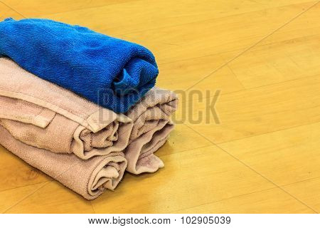 Hankie On Wood Background.