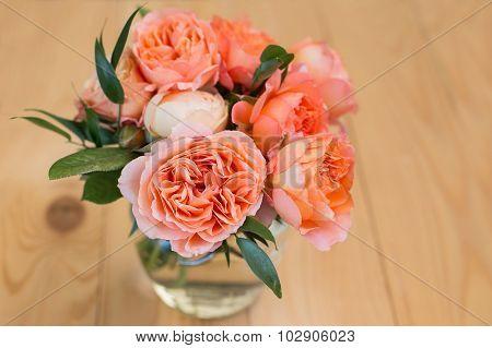 Peach Bouquet Of David Austin Roses