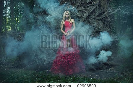Fantasy image of a beautiful blonde