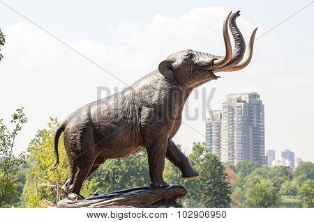 Elephant Statue In Denver Park