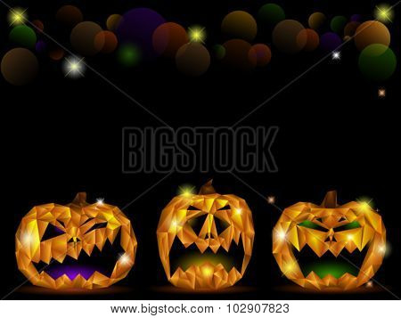 Pumpkin face background