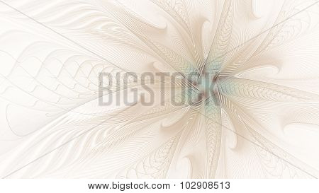 Abstract Fractal Background, Flower