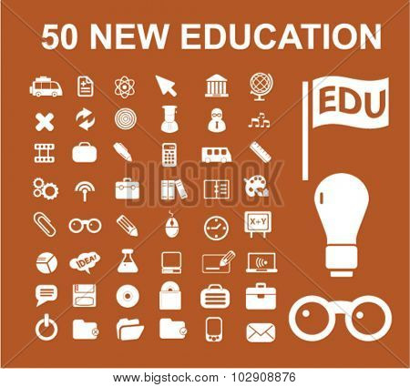 50 new education icons