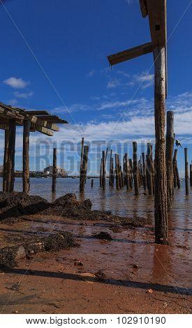 Provincetown, Massachusetts, Cape Cod broken down pier