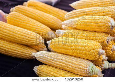 Few yellow corn