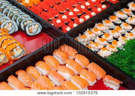 Photo of fresh maki sushi