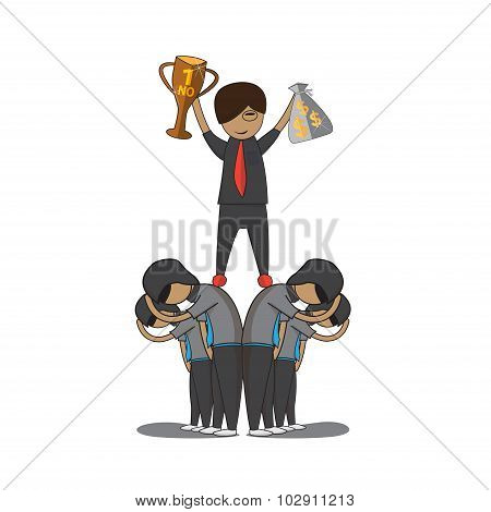 Business Worker And Boss Manager Concept Winner