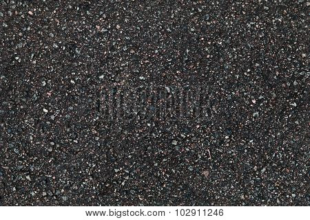 Black Asphalt Pavement Closeup Background Texture