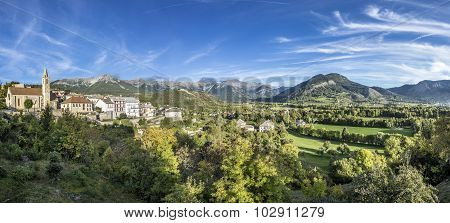 Skyline Of Seyne Les Alpes