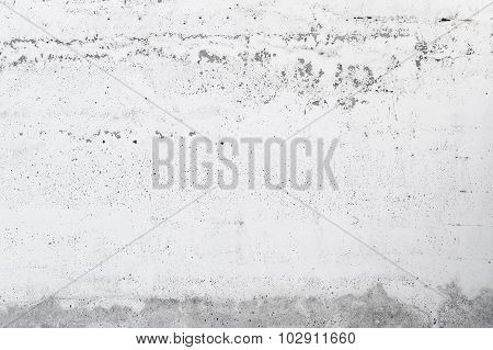 Concrete Wall Texture With Plaster And White Paint
