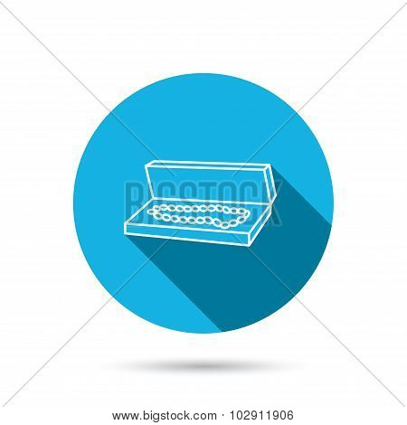 Jewelry box icon. Luxury precious sign.