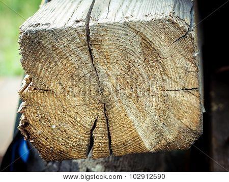 Texture of a wooden balk