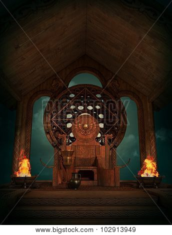 The Throne Of Teutates, 3D Cg