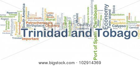 Background concept wordcloud illustration of Trinidad and Tobago