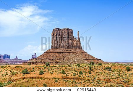 West Mittens Butte In The Monument Valley