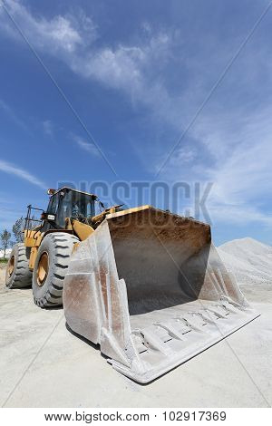 bulldozer with quarry