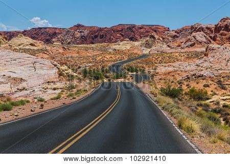Valley of fire panoramic road