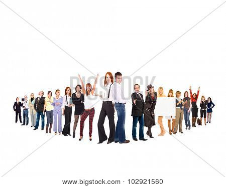 Business Picture Isolated Groups