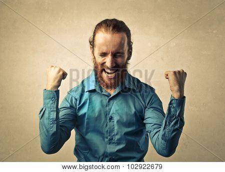 Jubilant man