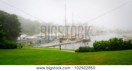 Misty Morning Rockland Maine Harbor